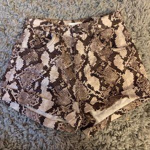 Snake Skin High Waisted Shorts